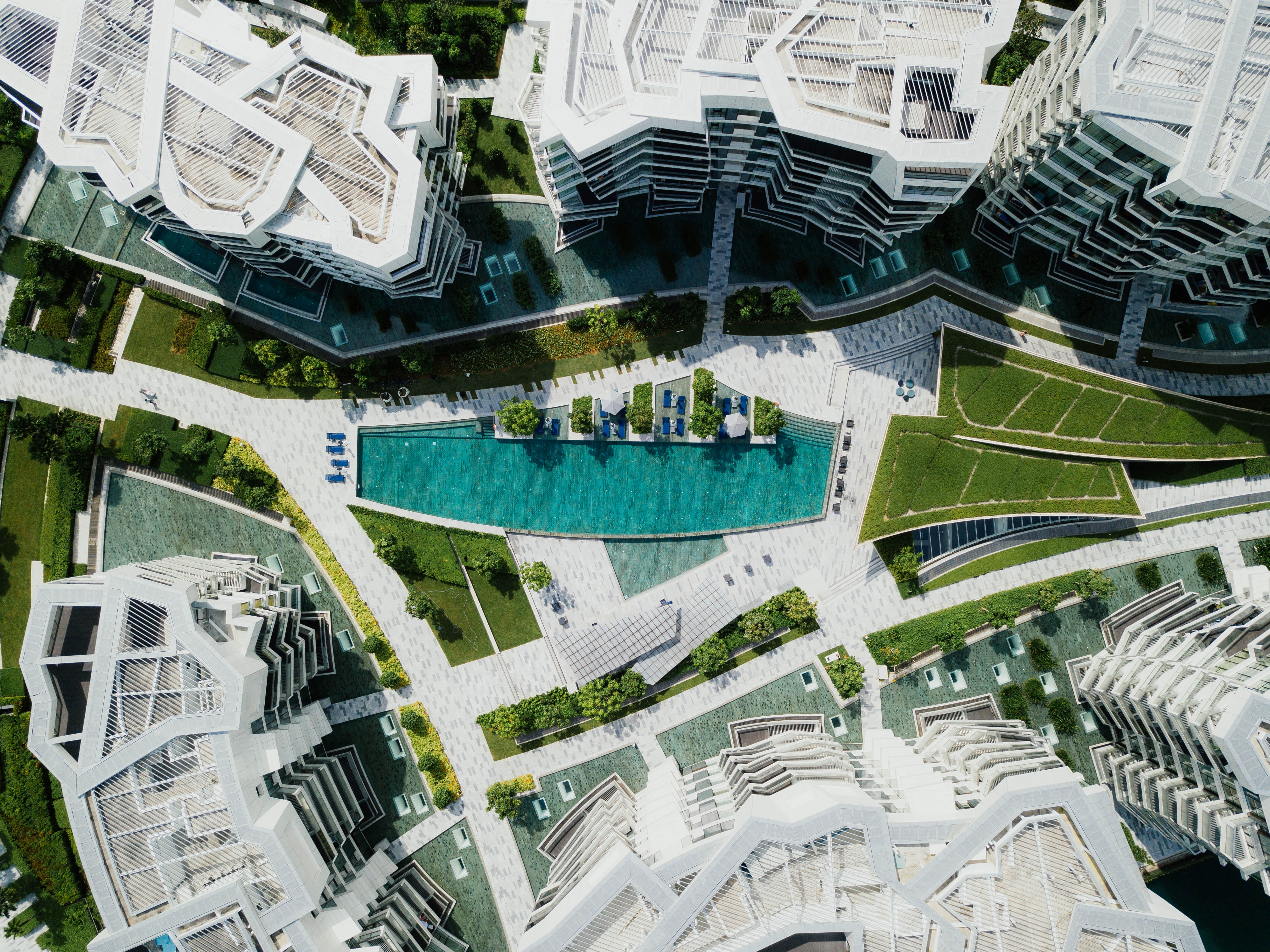 areal photography of high-rise buildings