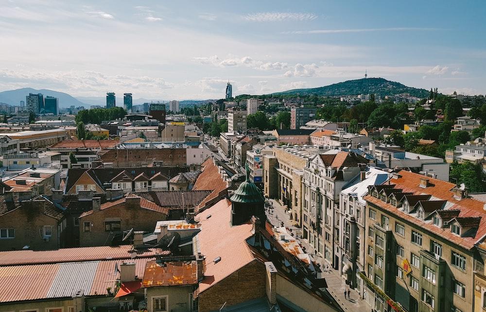 bird's-eye view photography of city