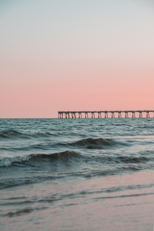 long exposure photography of ocean waves