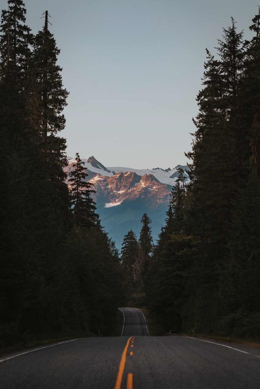 Landscape Photography Of Mountains Trees And Road
