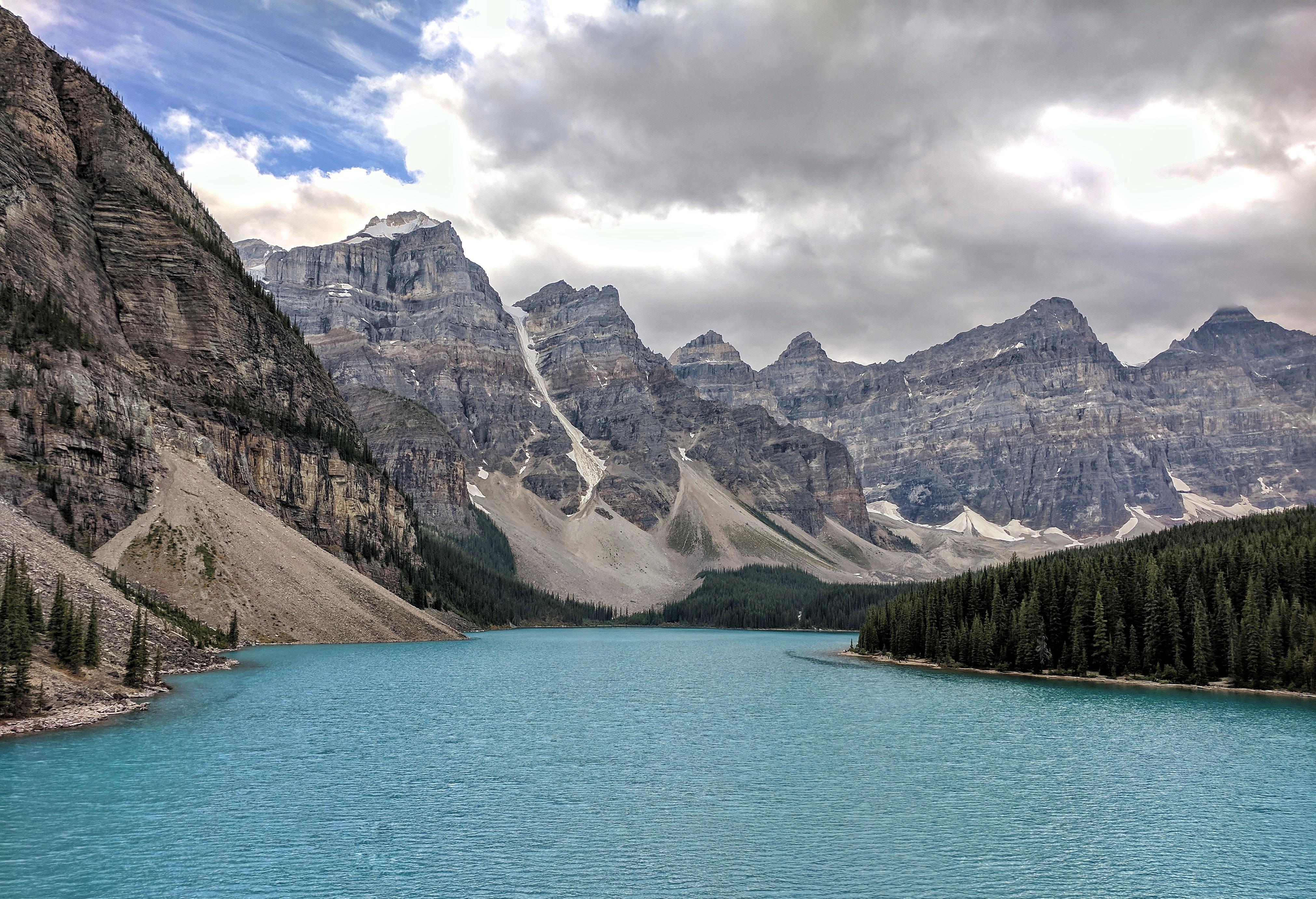 body of water between landscape