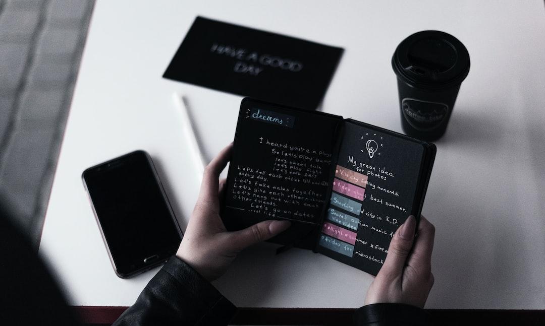 A custom black notepad with ideas and fantasy