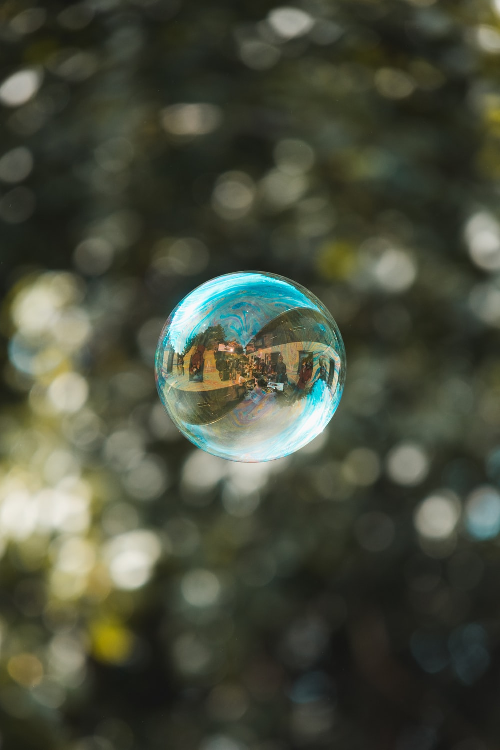 selective focus photography of bubble