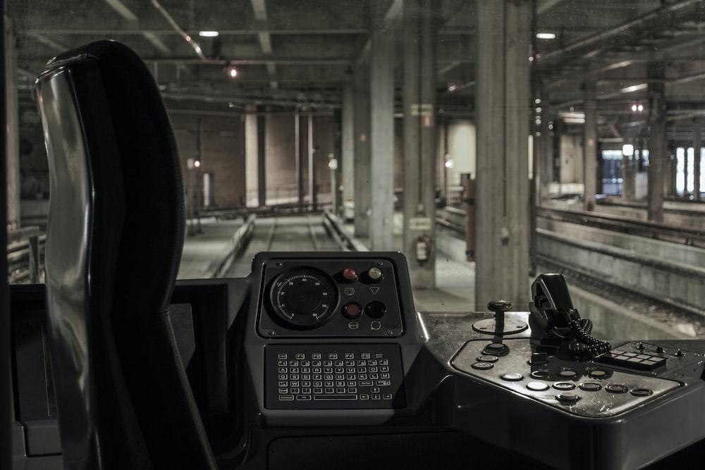 black train control room