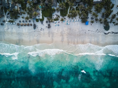 aerial photography of beach shore during daytime miami zoom background