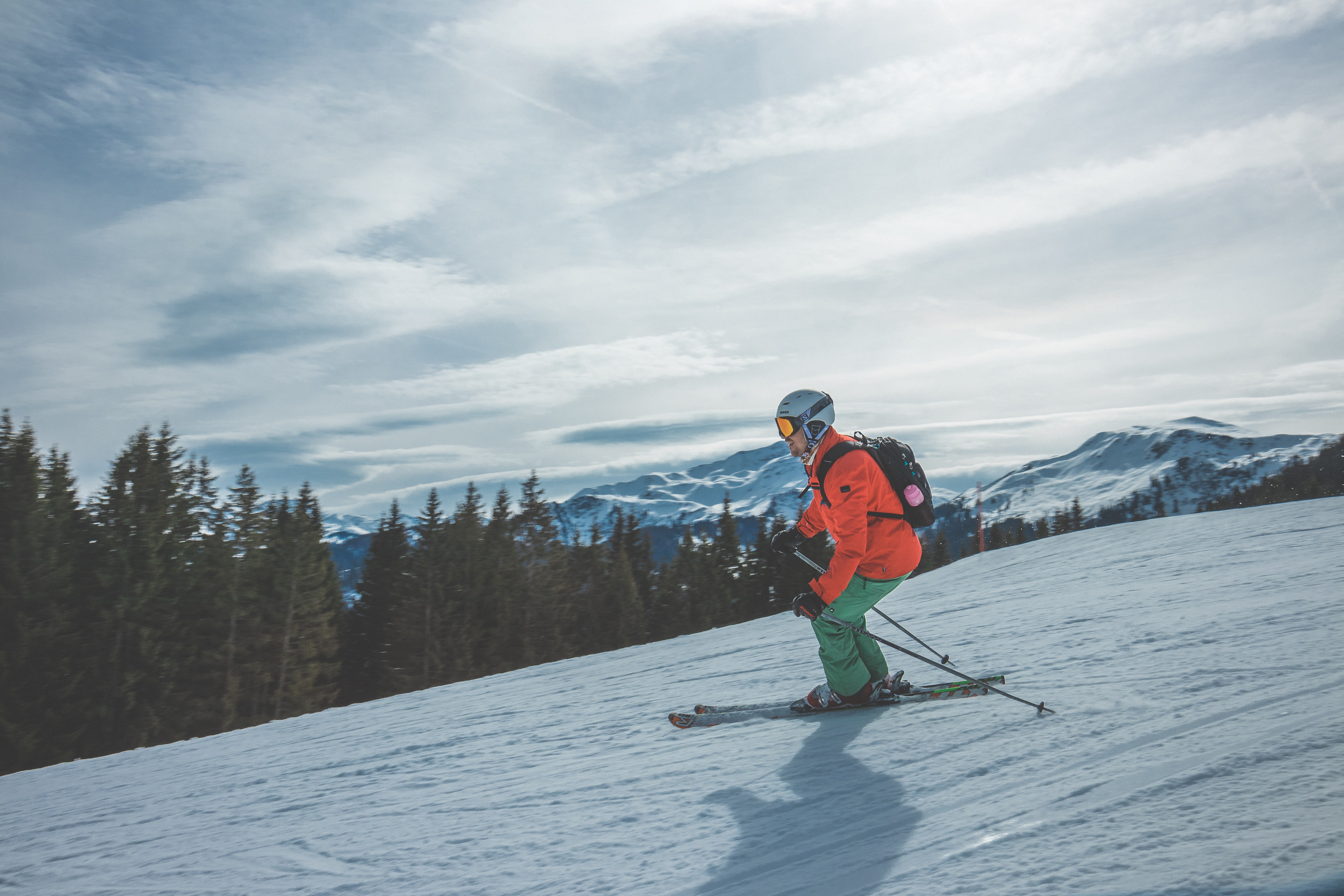 person using ski boards during daytime photography