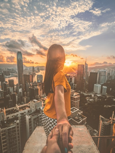 I am Rooftop And Urban photographer in Hong Kong.She also a rooftopper From Shang Hai.This is the unforgettable memory what I do with her.Acutally I never think take this shot before.After the sunrise and I just think about that in a second and take this love shot.Even not a couple but hope can inspire people much love💕Just Capture this moment and show how beautiful in Hong Kong.Also Hope people Feel The Love❤️
