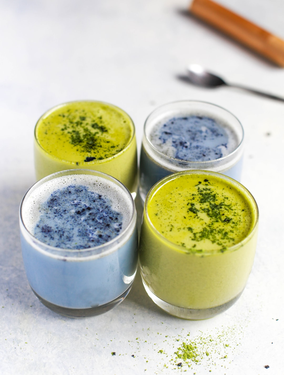 Blue & Green Matcha Lattes