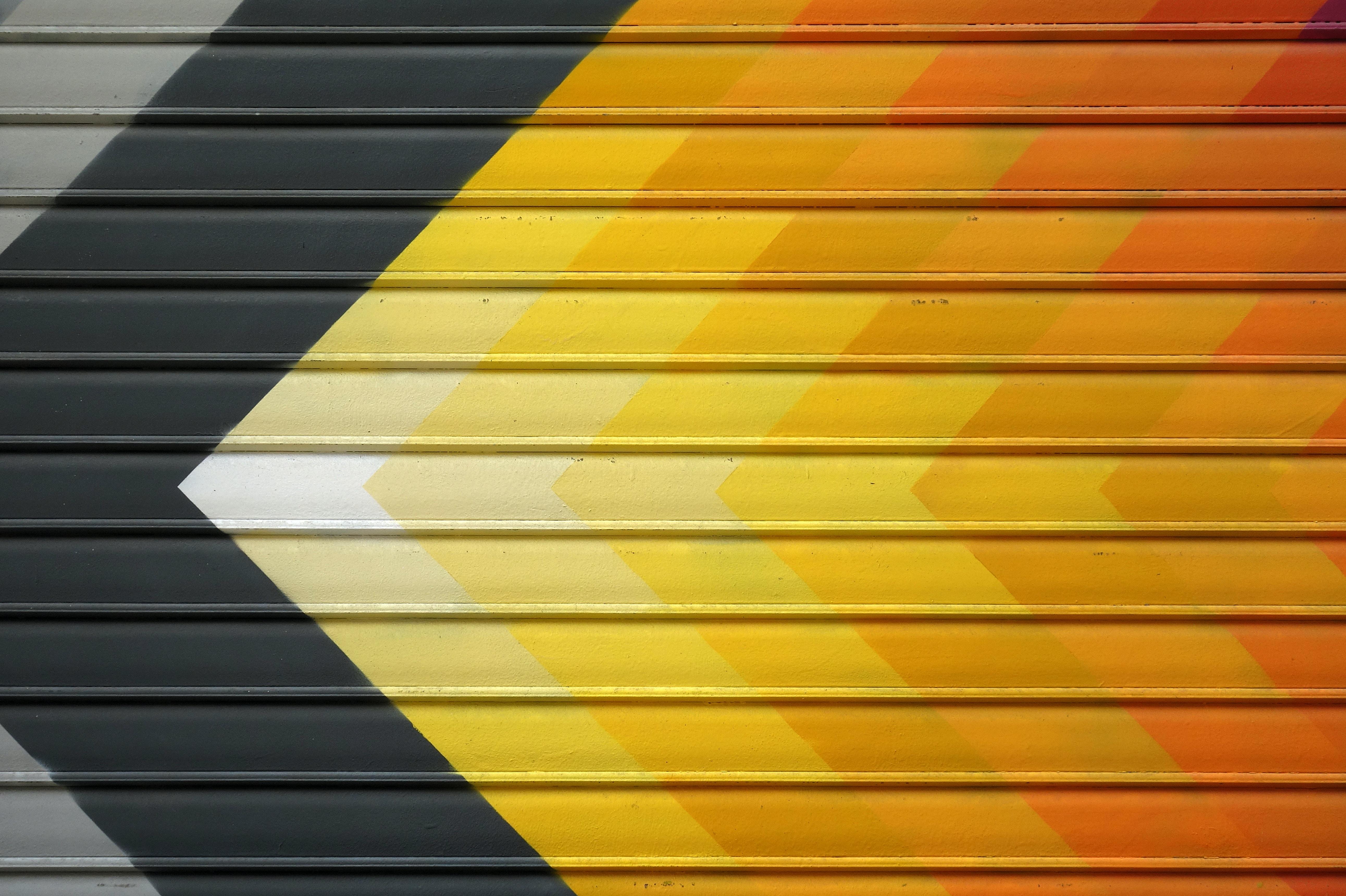 yellow and gray arrow vector