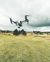 I was hired to go out and film a golf tournament from above, this is an image i took of my drone while it hovered in place.