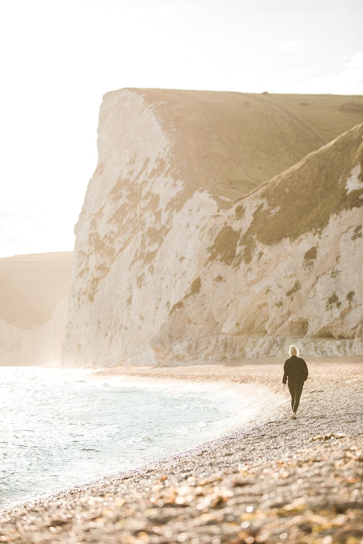 person on coastline