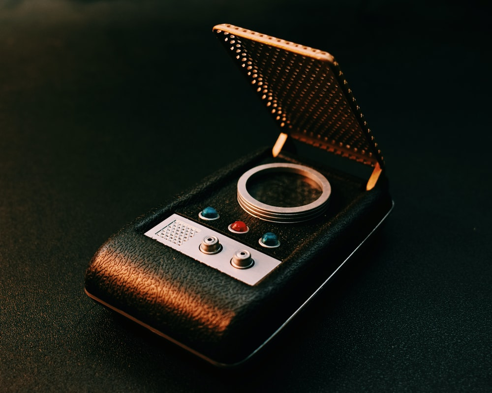 rectangular black digital device