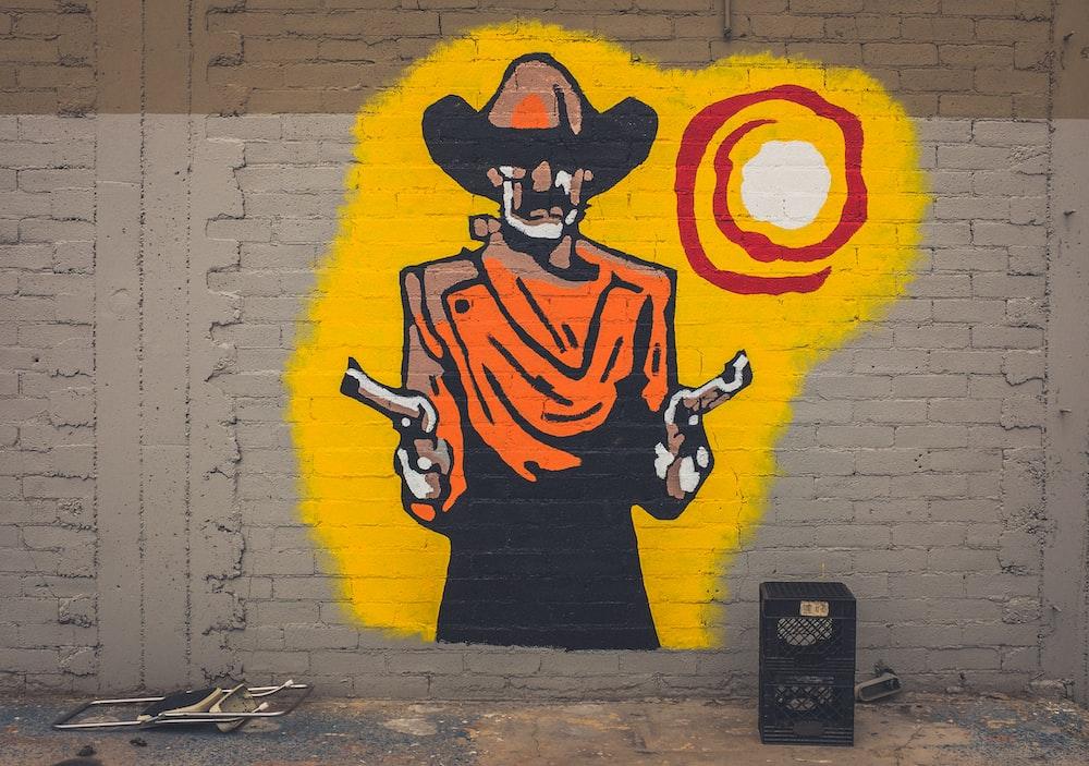 man graffitti