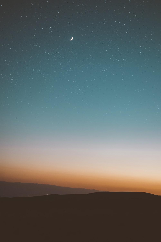 desert under starry sky