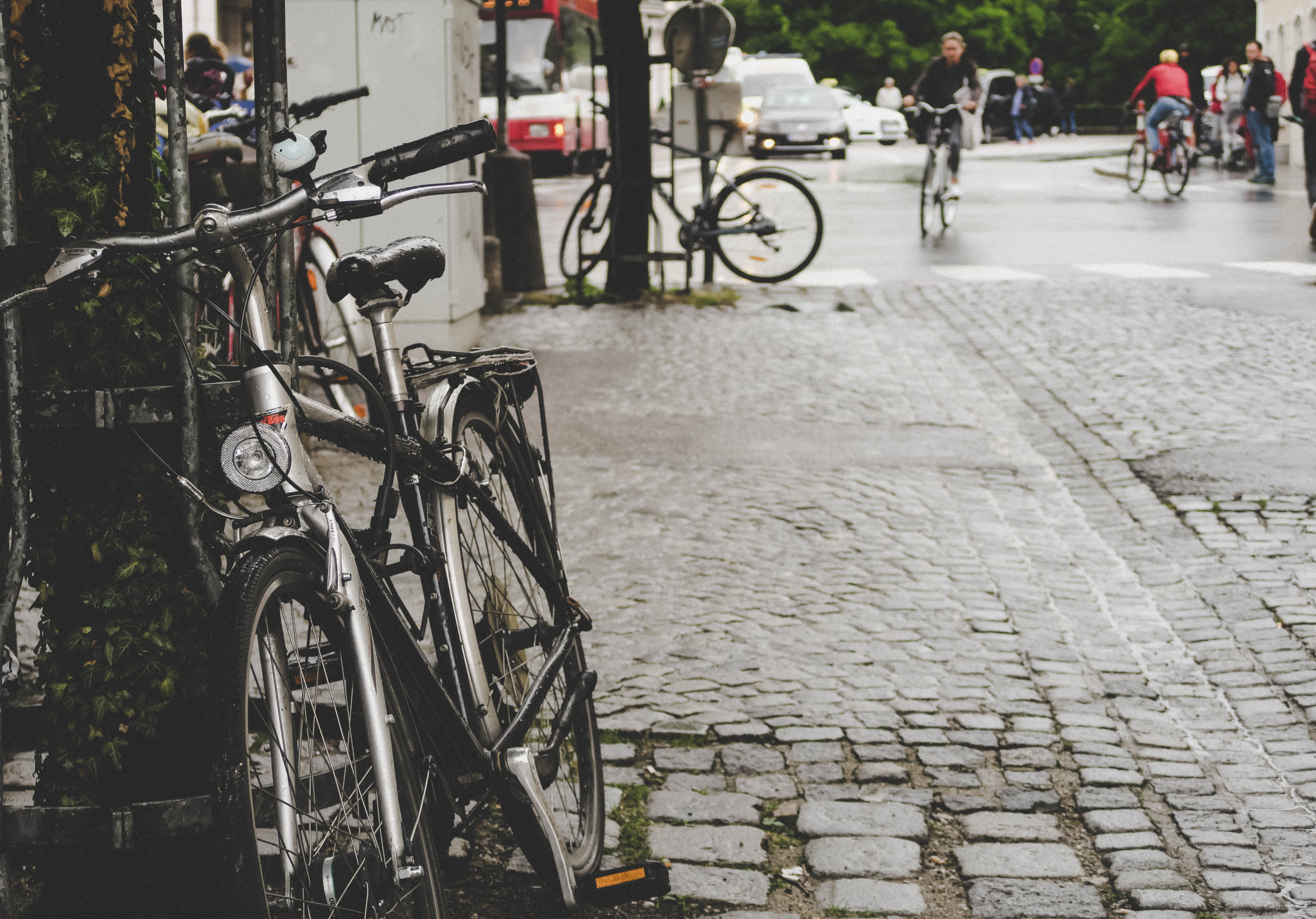 bike on side street at daytime