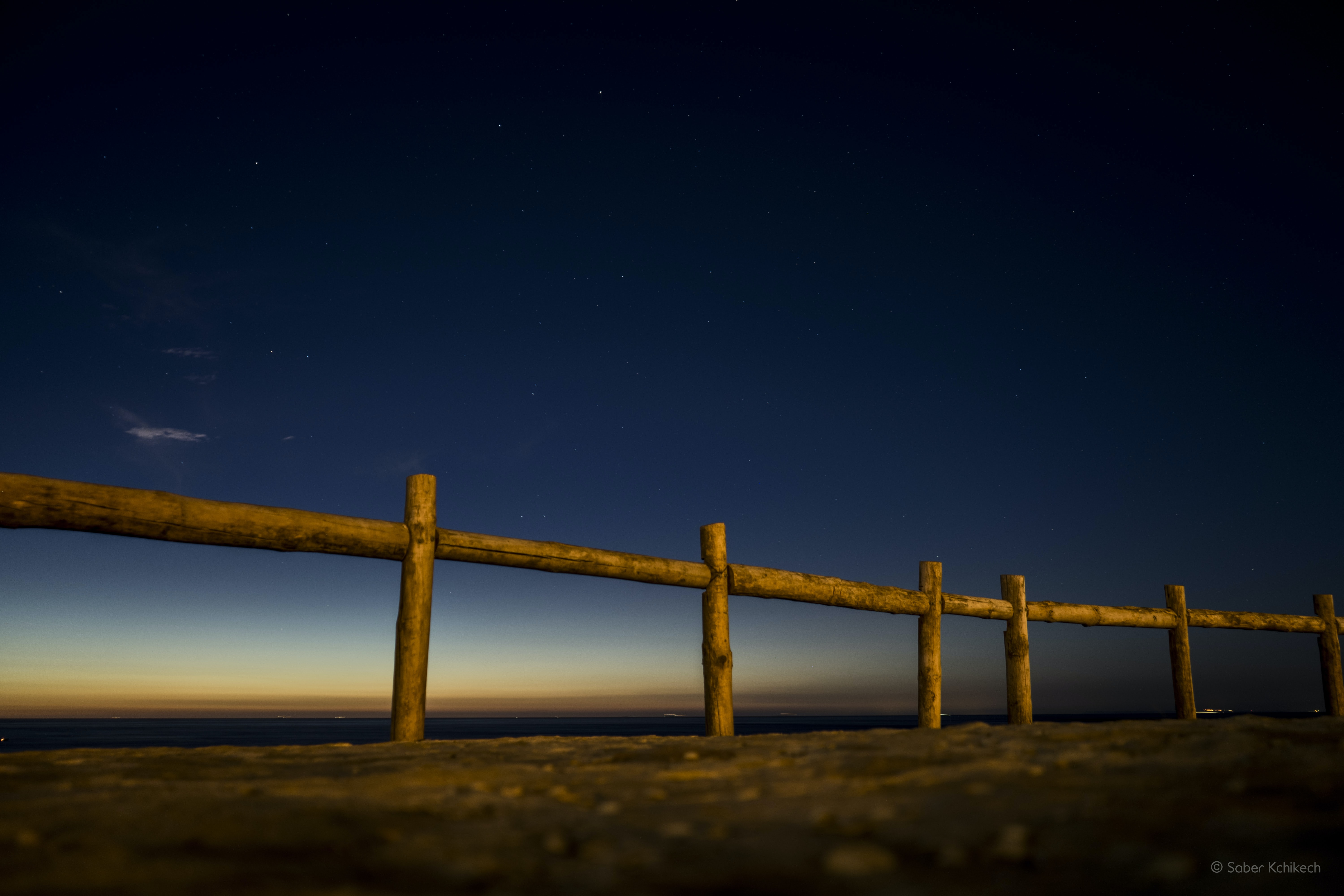 shallow focus of wooden fence