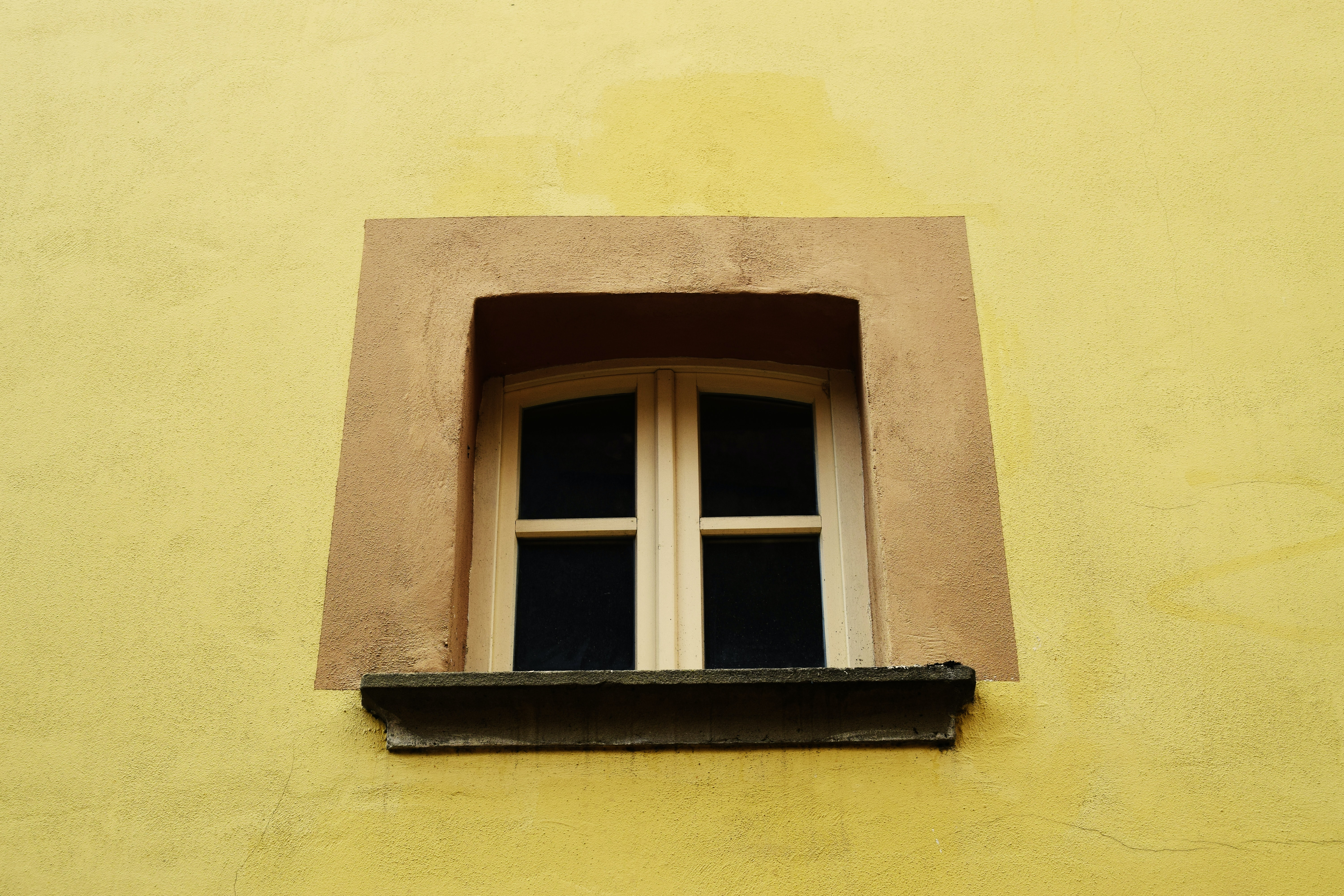 closed white wooden framed 2-pane window
