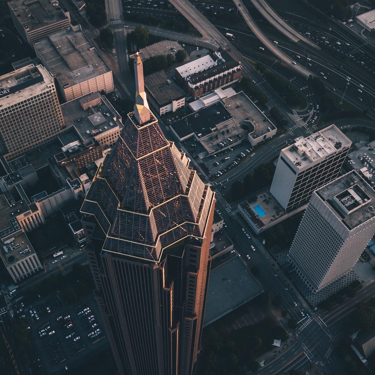 Overhead view of Atlanta