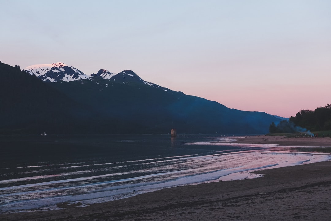 After a gorgeous sunset we were treated to this very pink twilight after a night of campfires, food, friends and fun. Alaska is the Fing best.