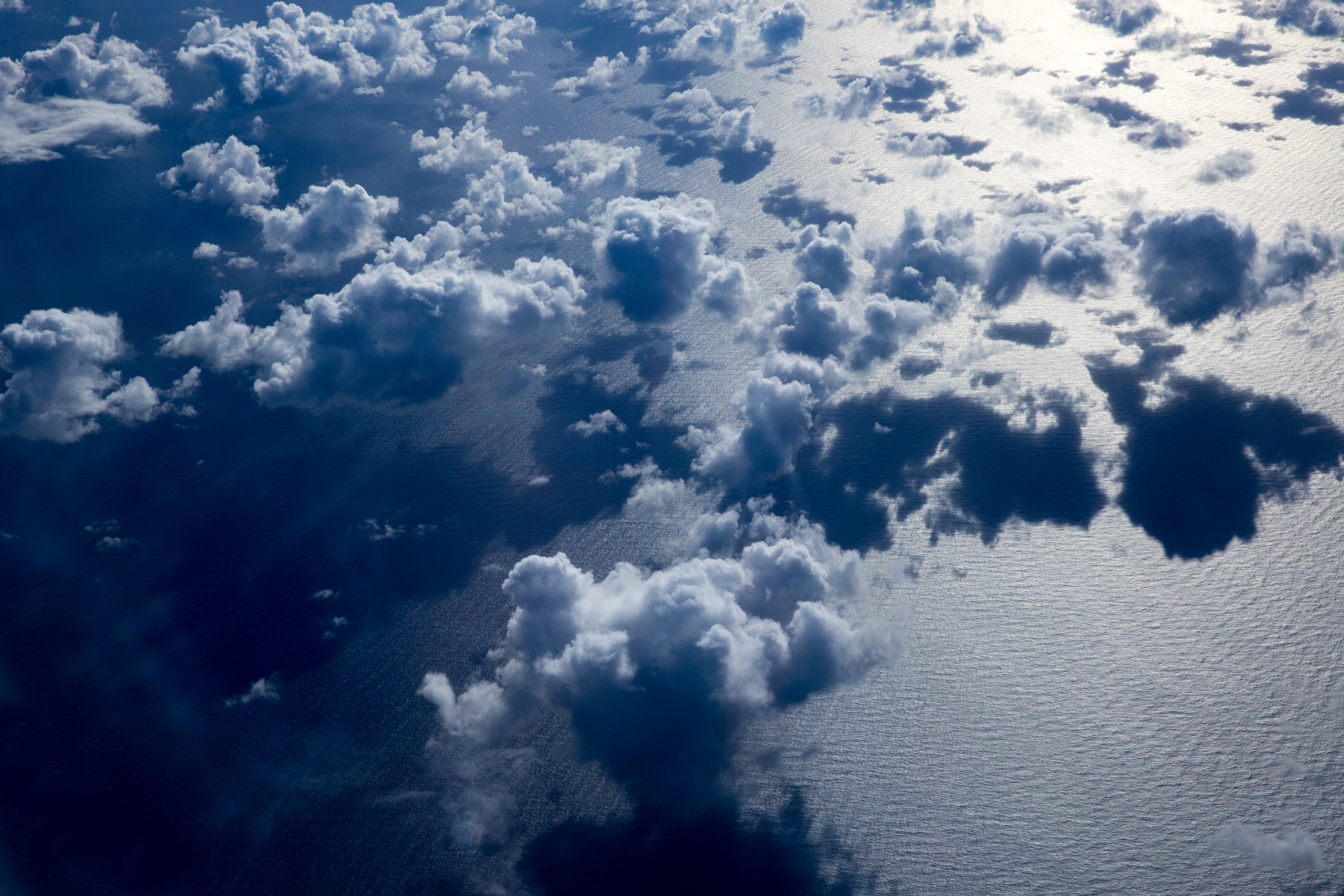 clouds formation above sea