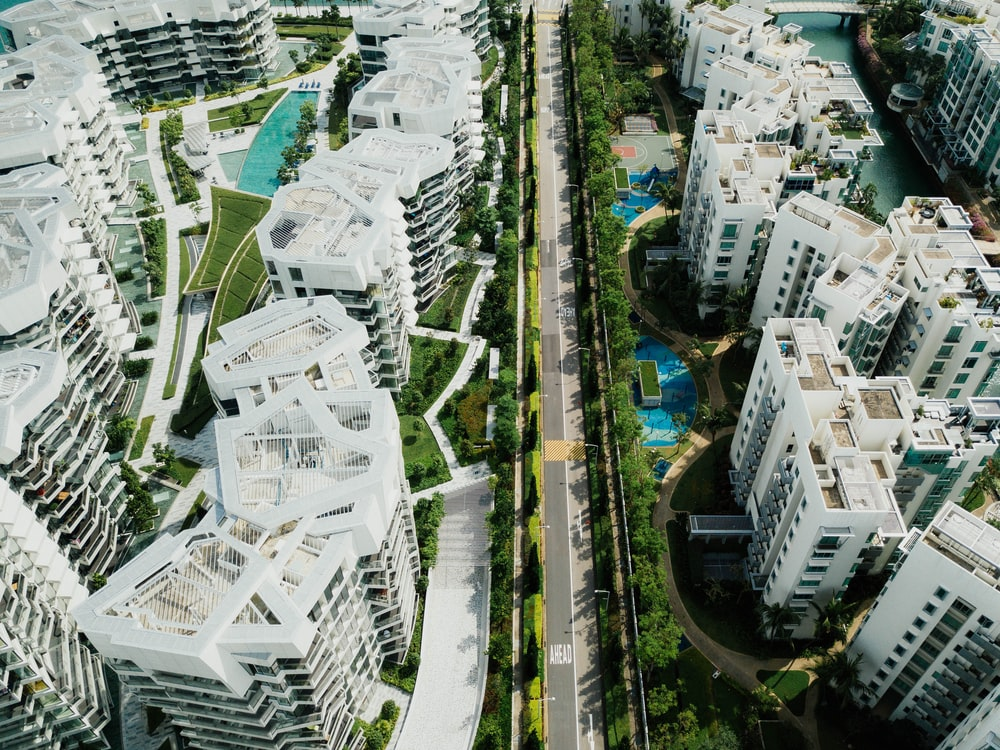aerial photography of white concrete city buildings at daytime