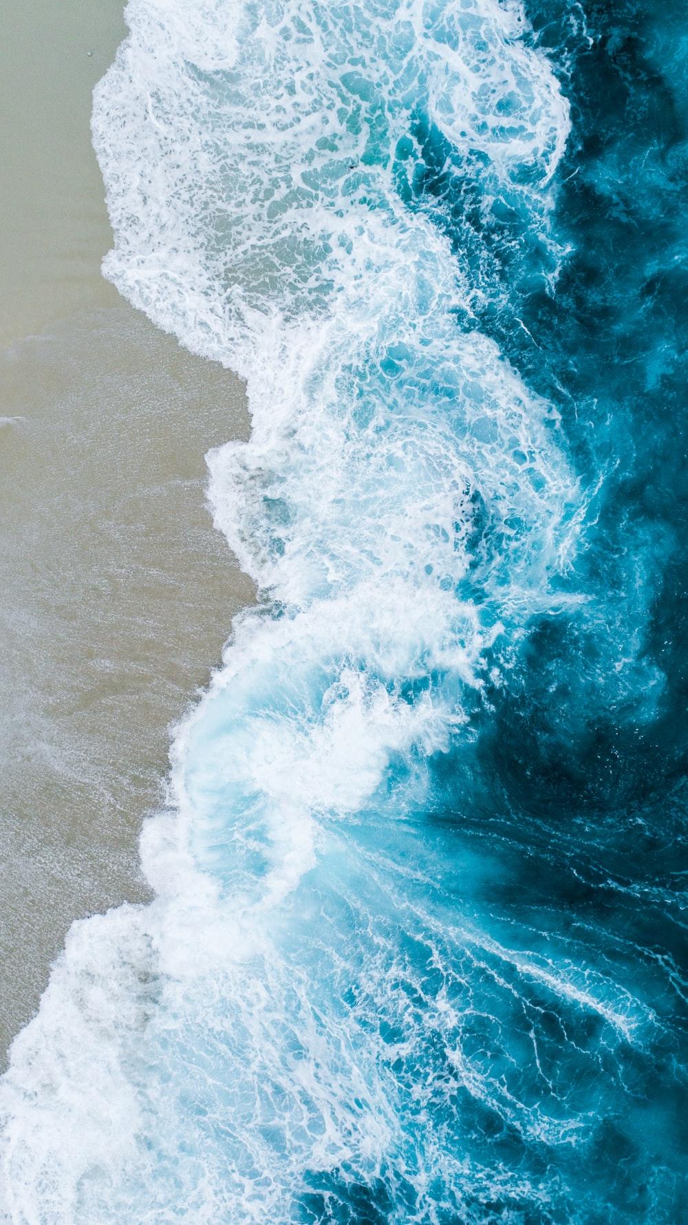 body of water on beach shore