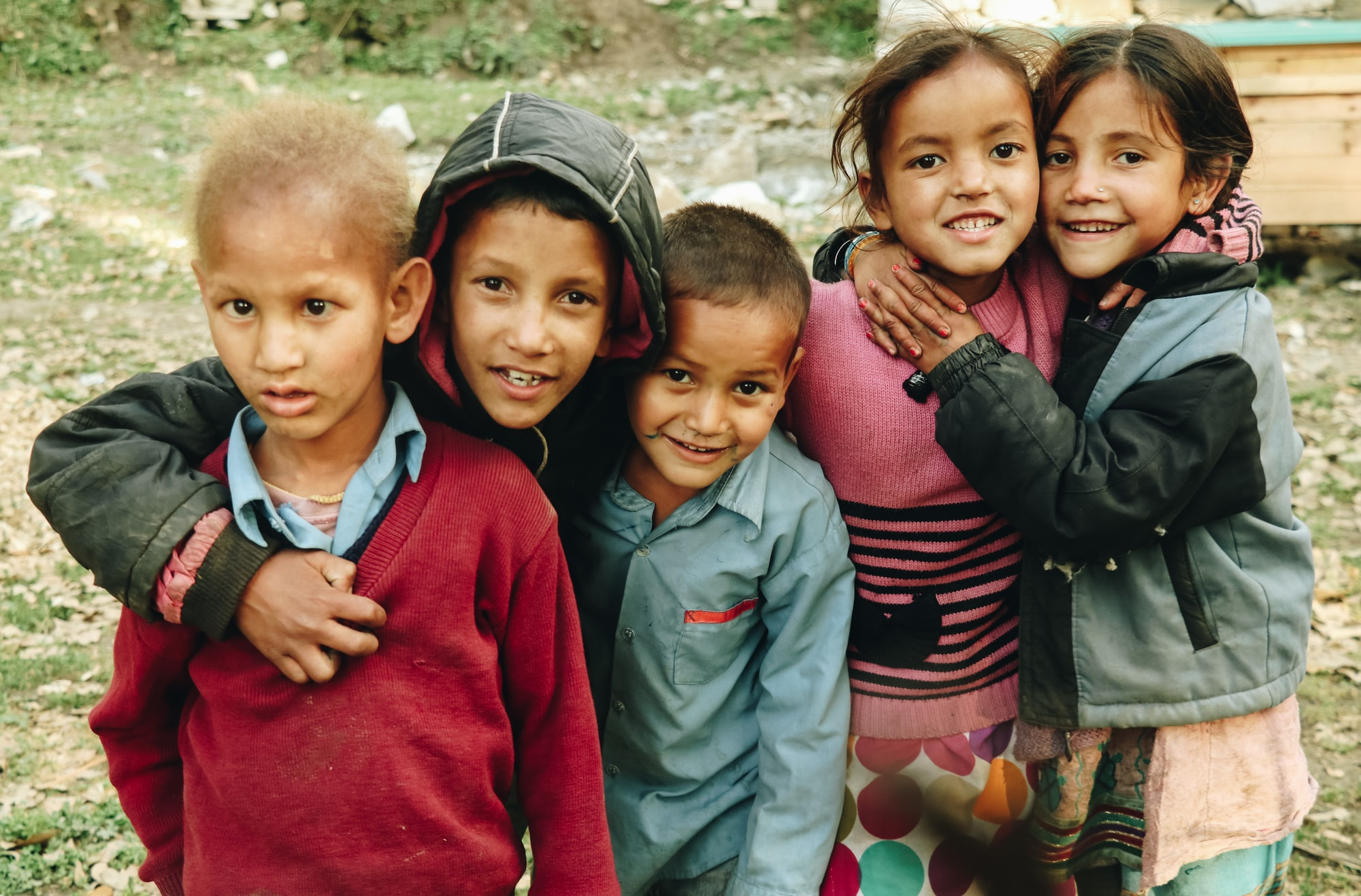 I recently went for Sarpass trek in Himachal Pradesh (India) and found these cute kids at the first base camp called Grahan. When asked they told me they were siblings and they love their life out of the city chaos. They were happy, as the picture shows.