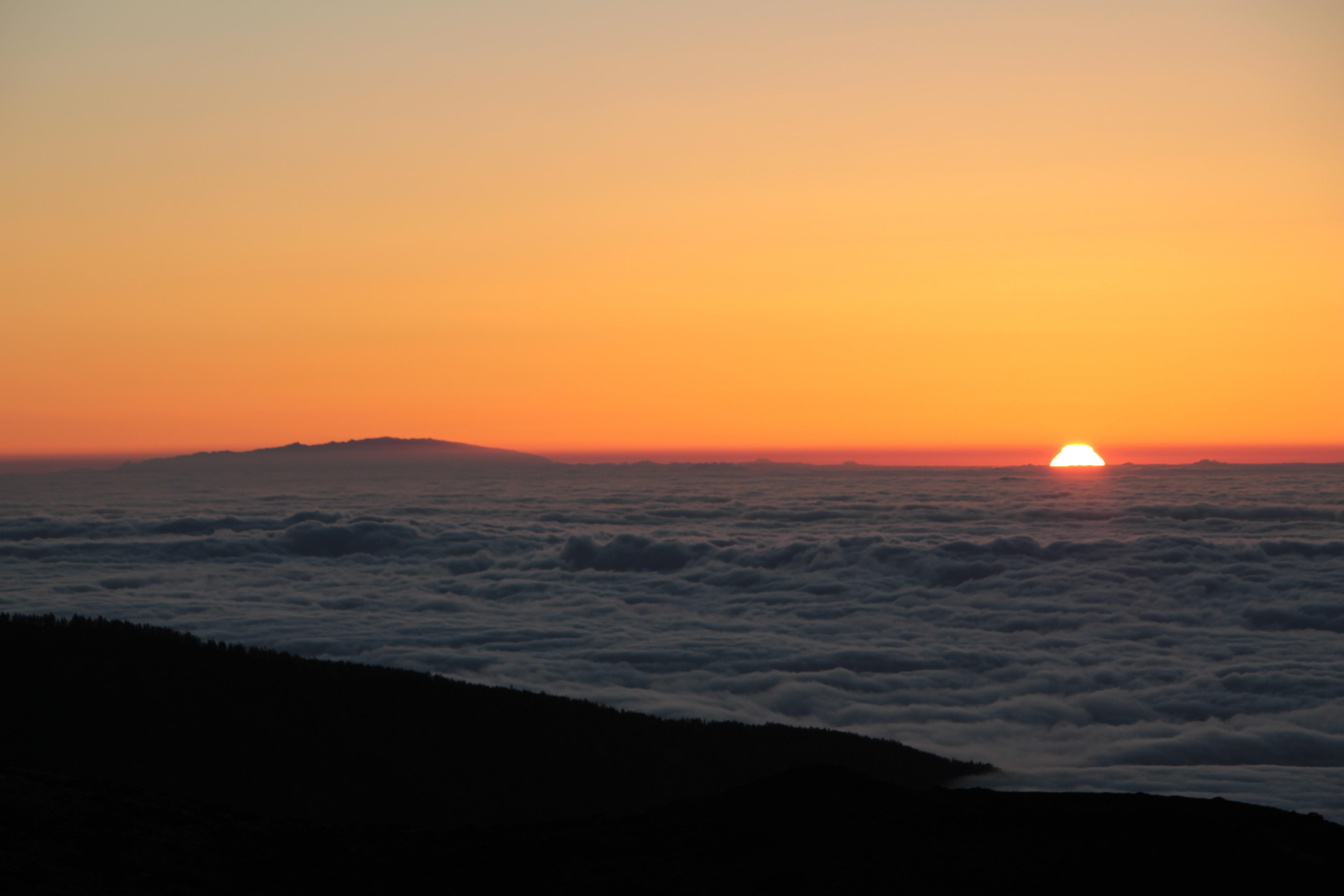 sun set over the horizon