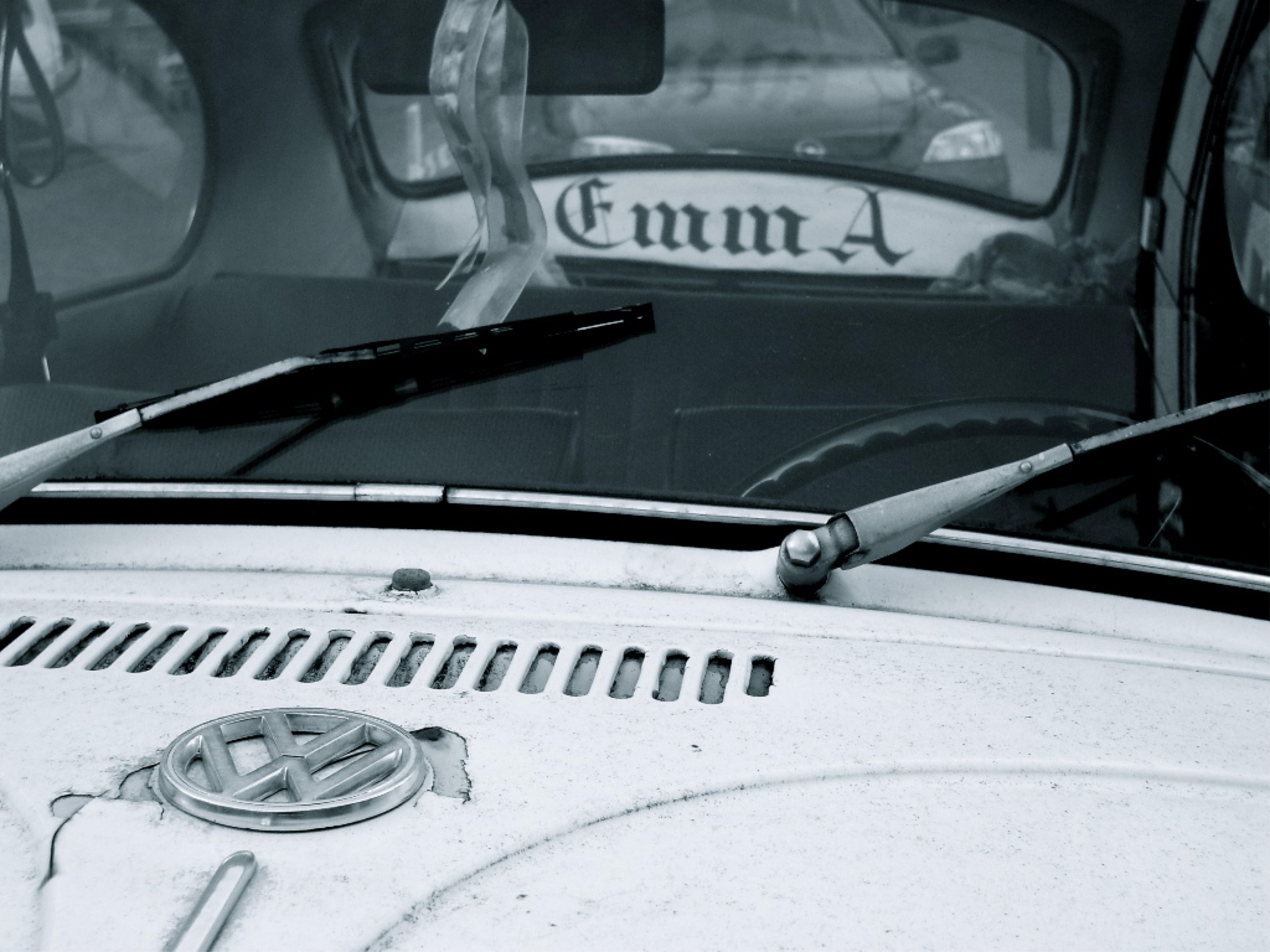 white Volkswagen car