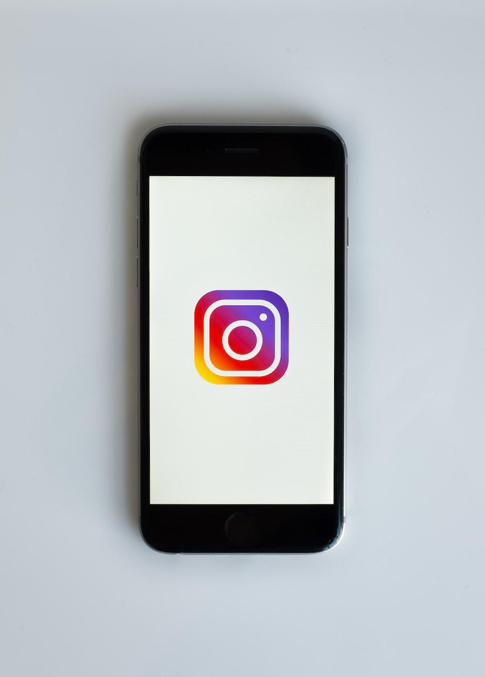 smartphone showing Instagram icon
