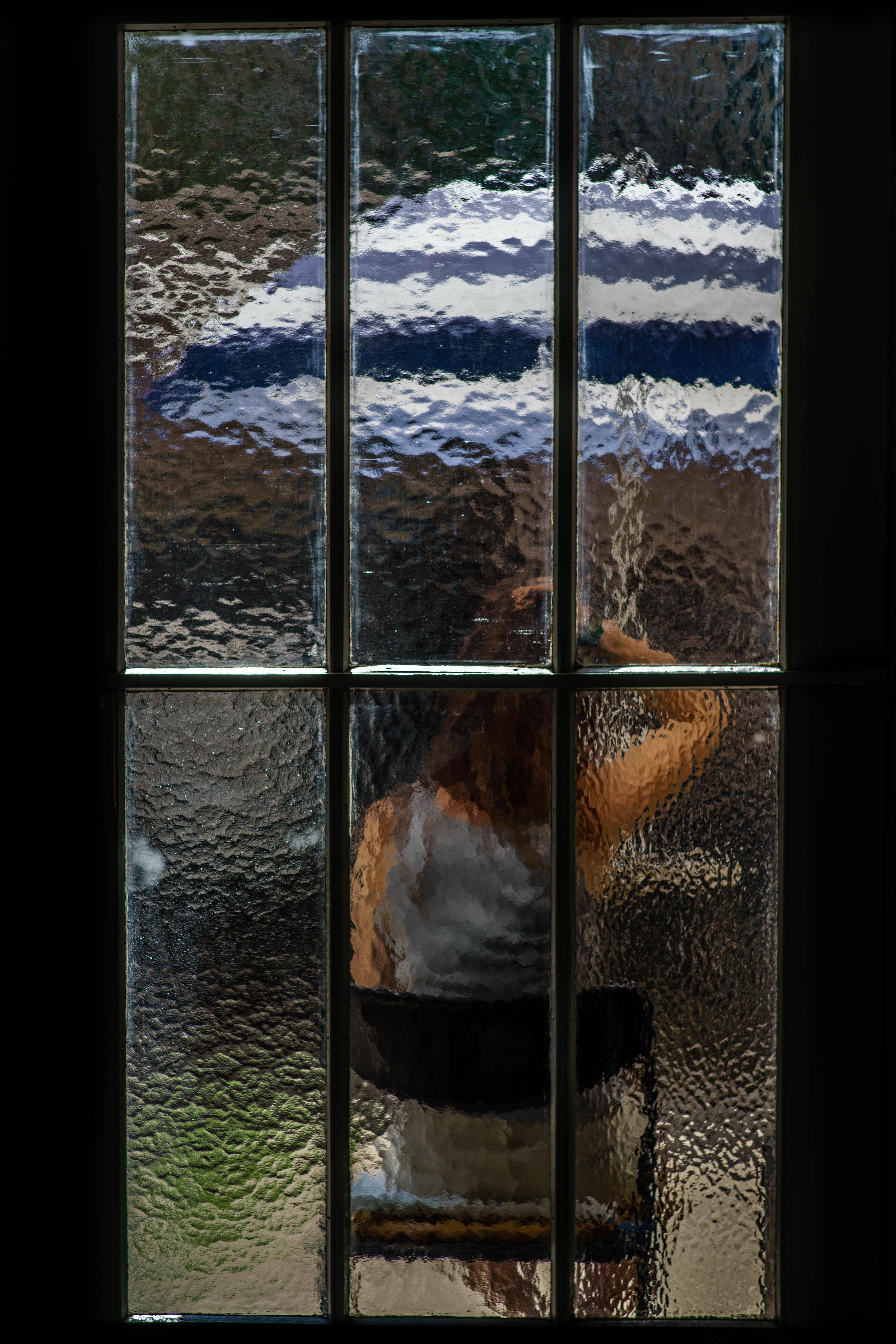 photo of clear glass window
