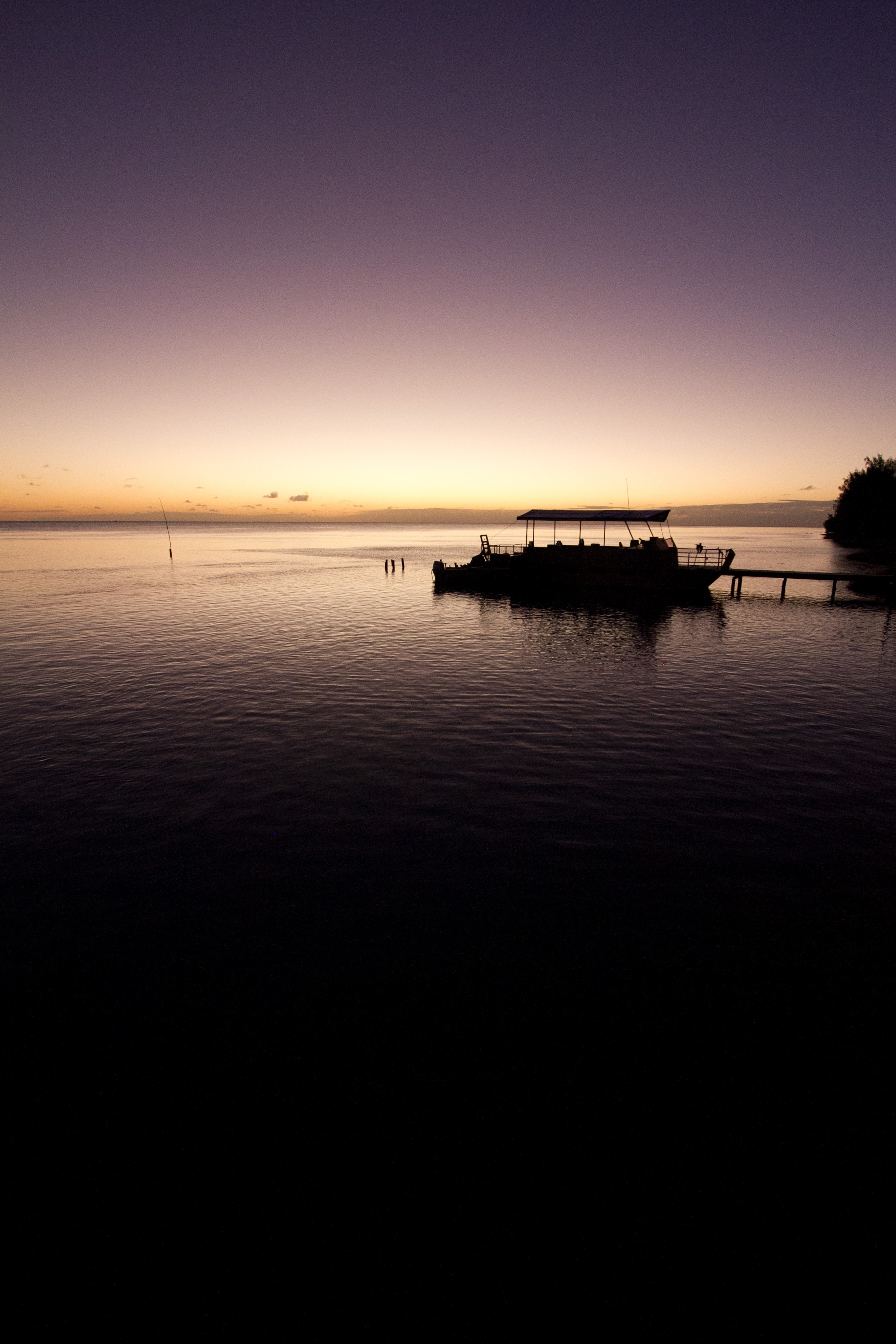 silhouette photo of boat