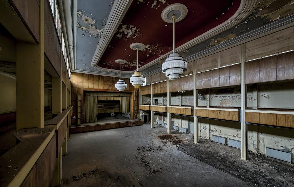 multicolored wooden theater interior