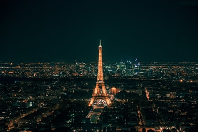 eiffel tower at night france zoom background