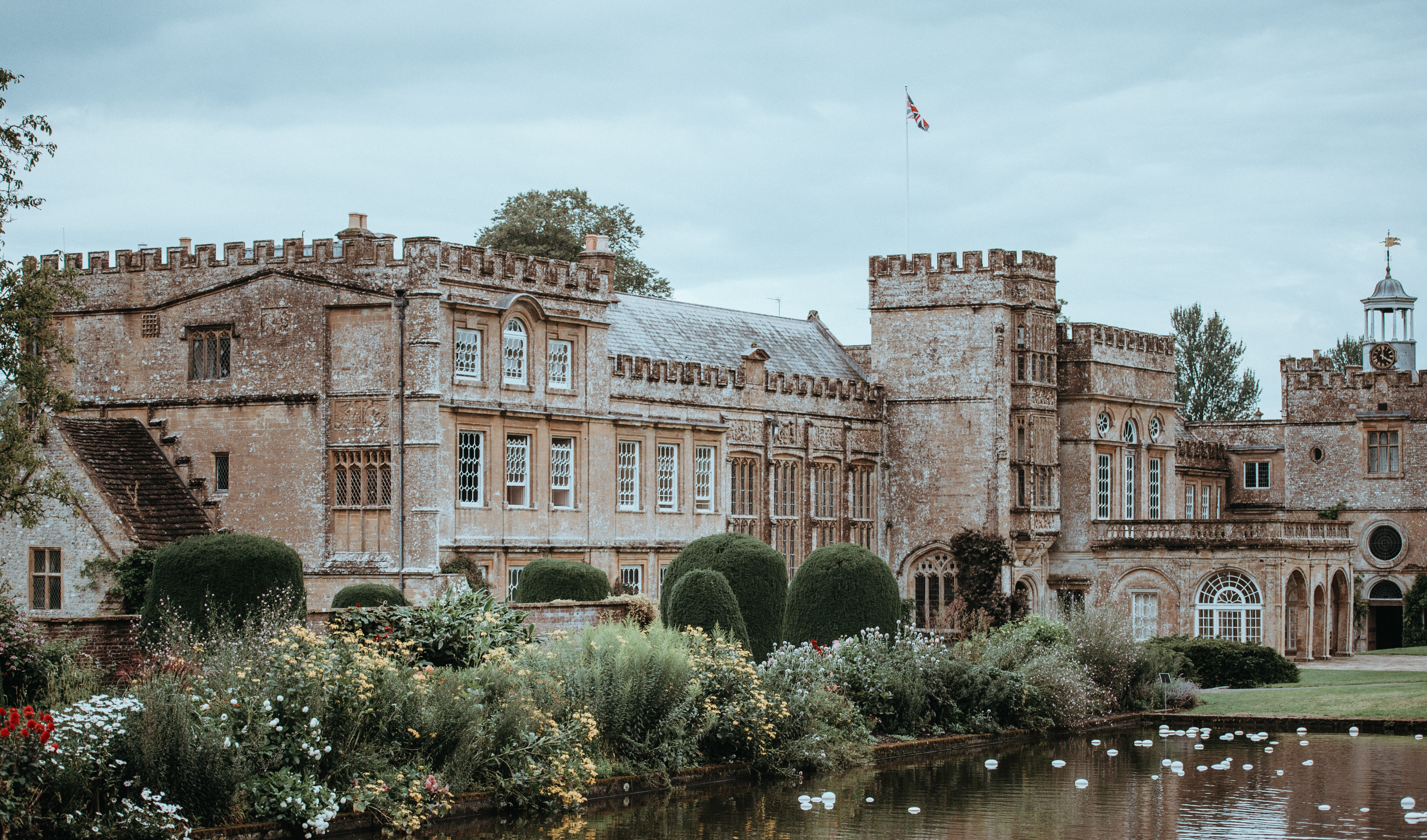 panoramic photo of brown castle