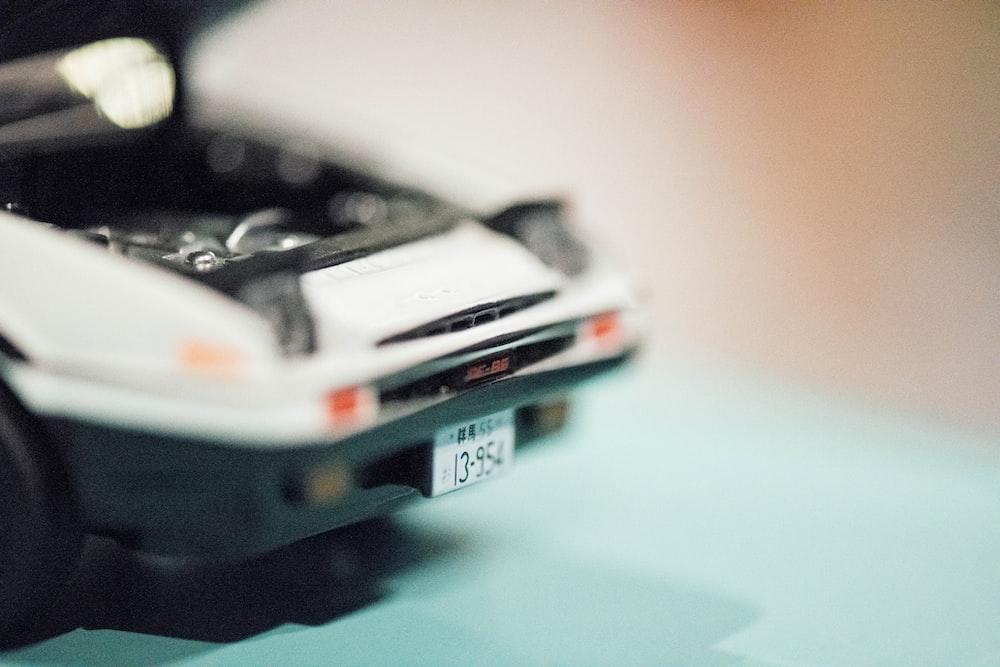 close-up photo of white car