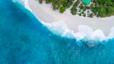 bird's eye-view photography beach maldives zoom background