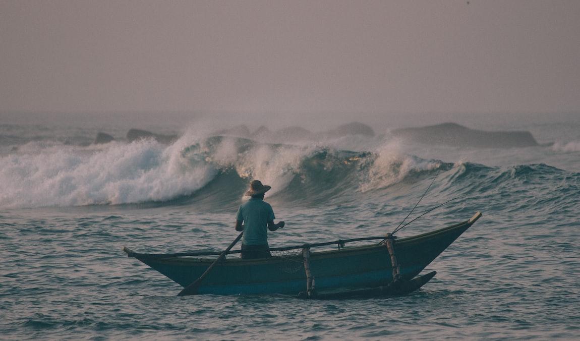 Fisherman in Mirissa Sri lanka