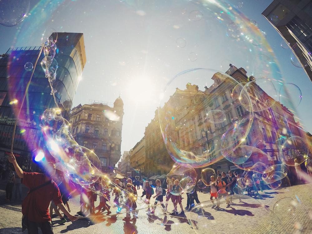 bubble taken at daytime