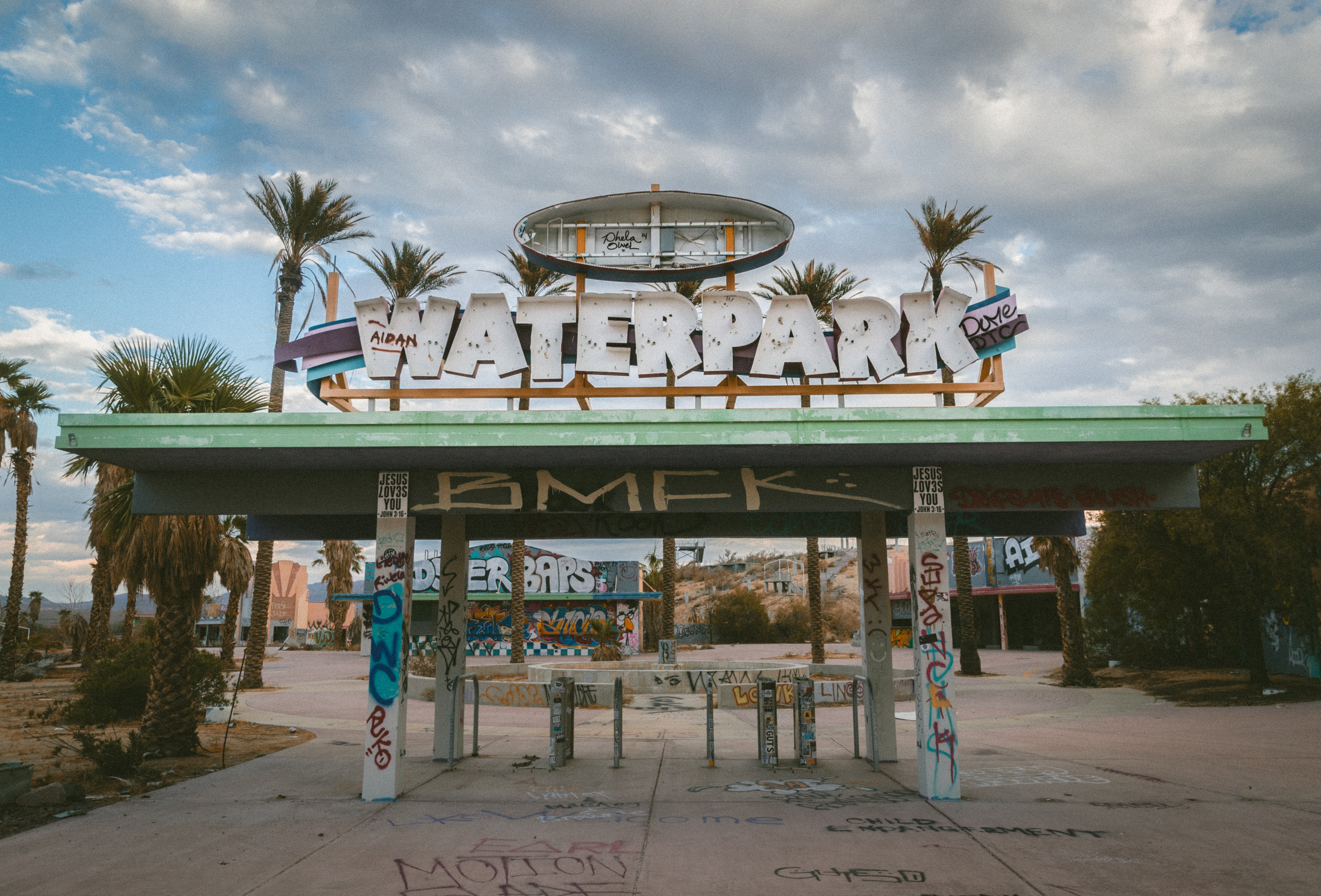 Waterpark signage