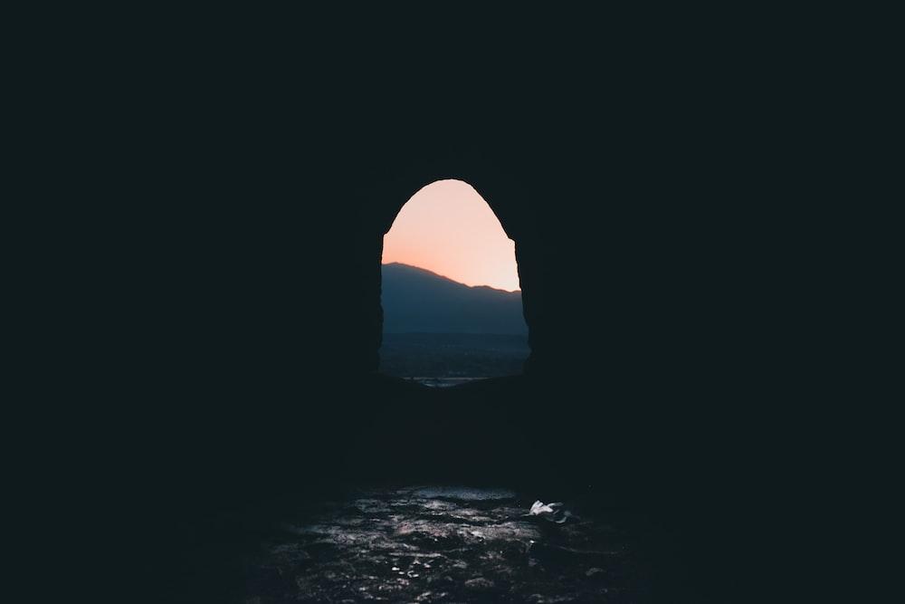 black cave exit