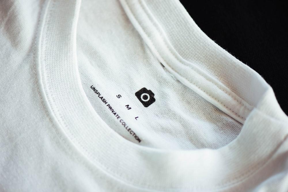 small white crew-neck shirt