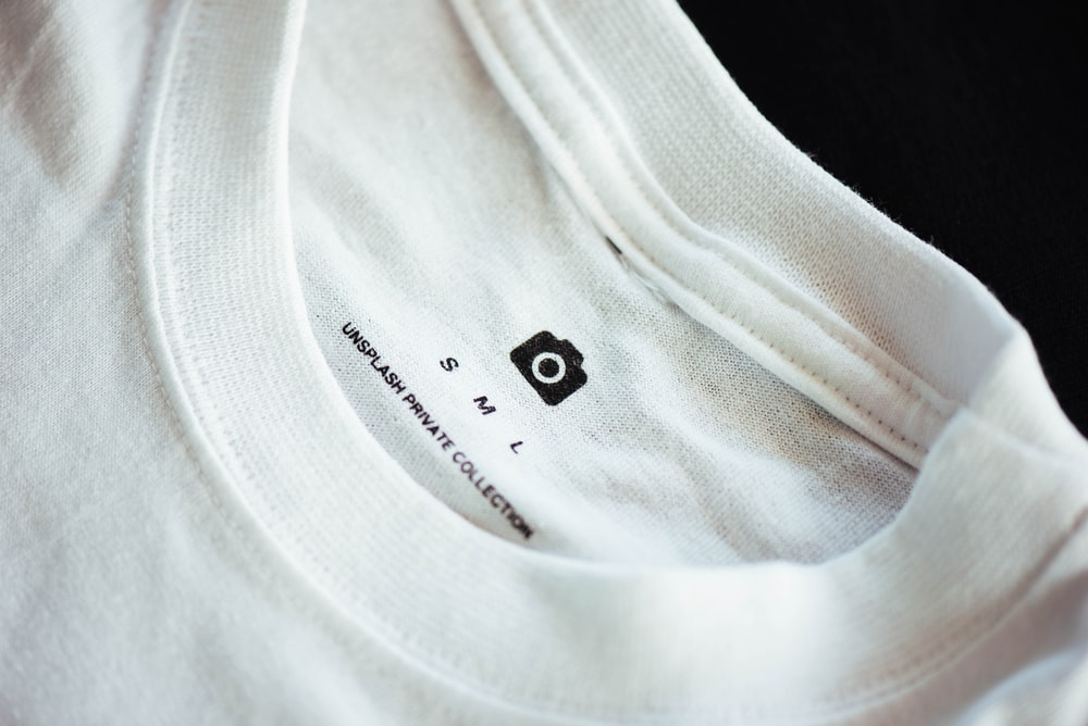 small white crew-neck shirt
