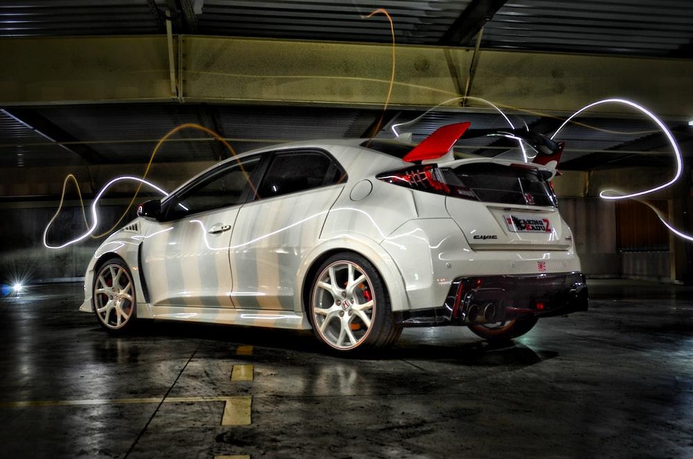 time-lapse photo of 5-door hatchback