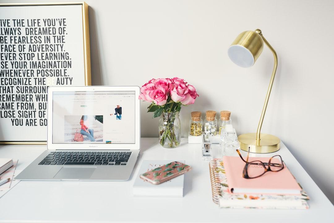 A shot of a laptop on a desk