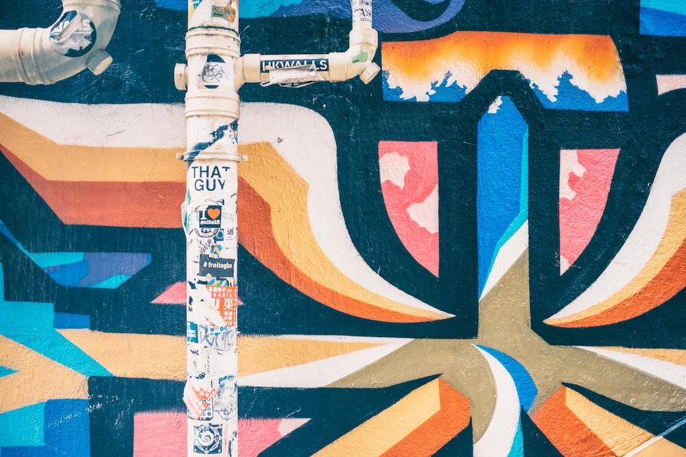 multicolored pipe artwork