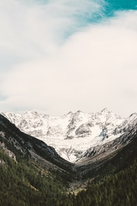 landscape photography of snow covered mountains