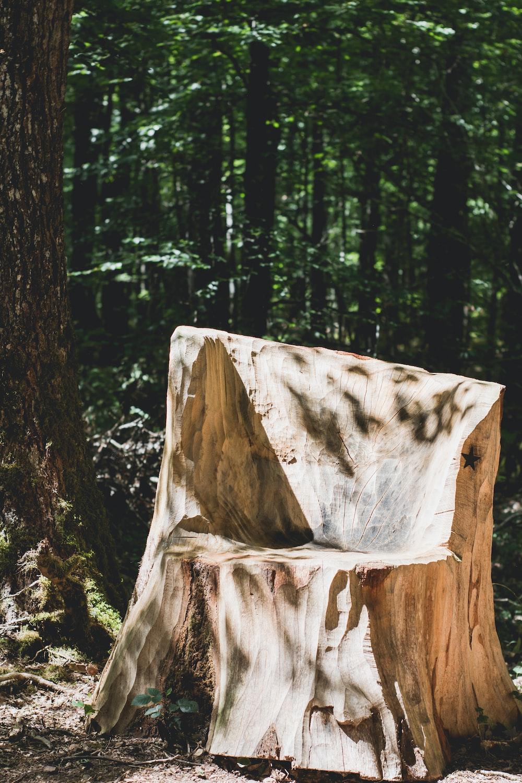brown wood carved chair