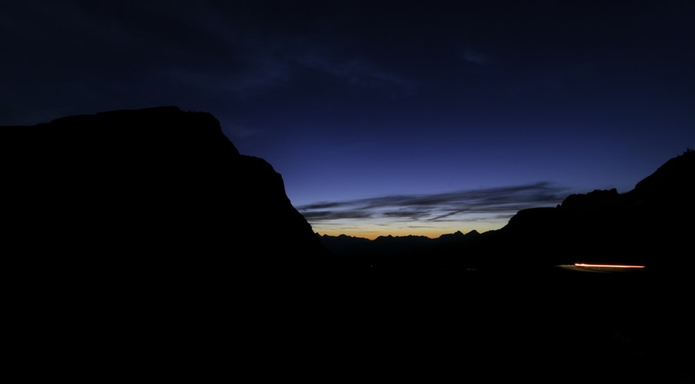 high rise mountain during sunrise