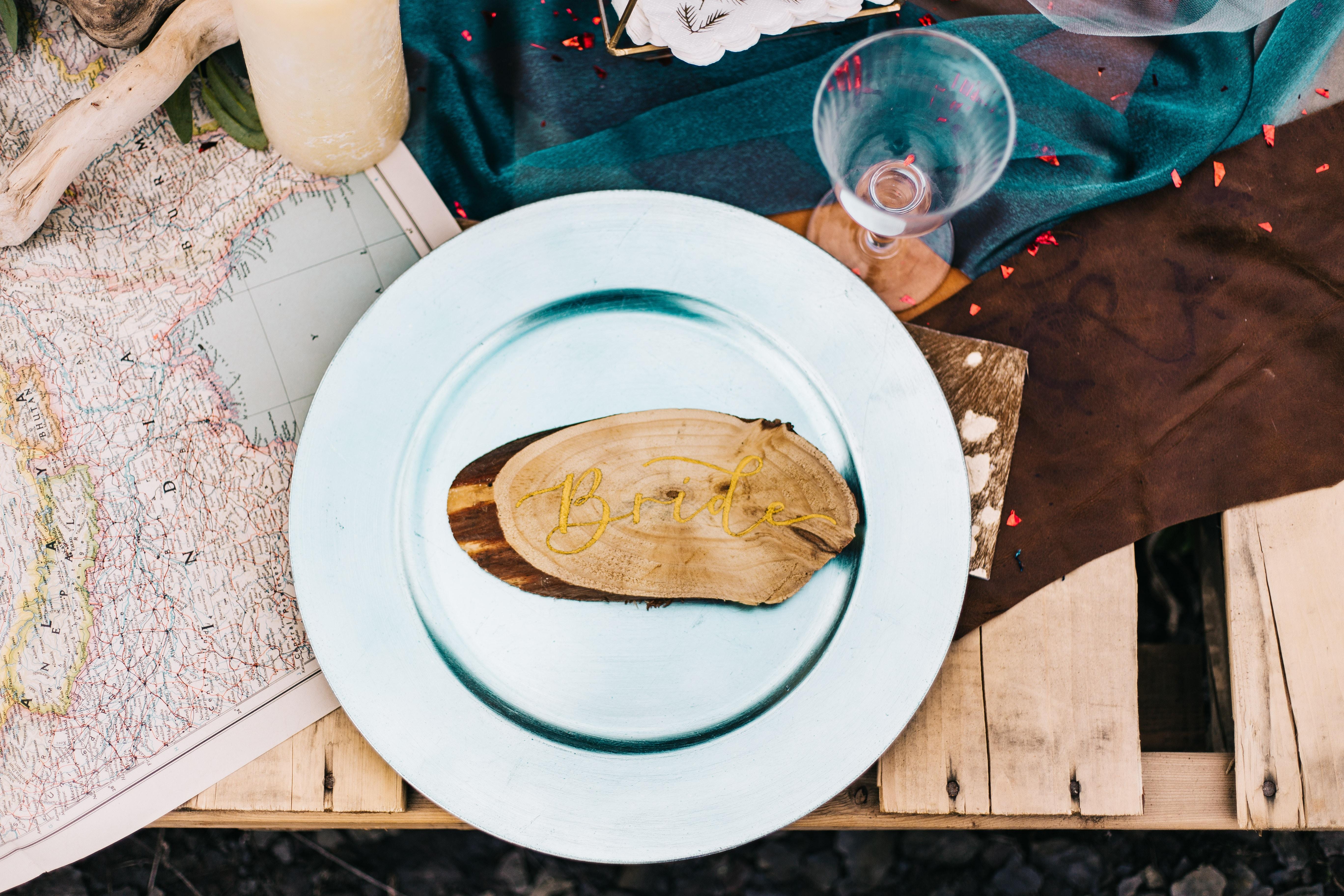 round white ceramic plate